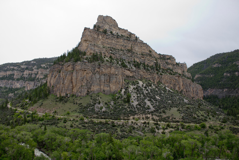 Ten Sleep formation on highway 16 in Wyoming. May 23, 2012