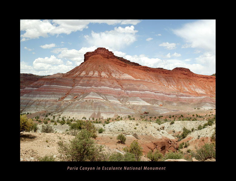 Gingham Skirts Butte, Paria River Valley, Grand Staircase Escalante National Monument
