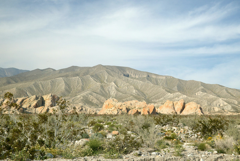Interesting faults and erosion patterns in DeAnza-Borrego State Park. Southern California desert.