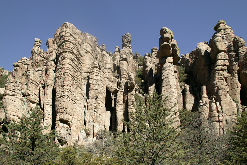 """Organ Pipe"" formation in Chiricahua National Monument, Arizona."