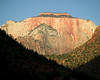 West Temple, a sandstone monolith in Zion National Park Utah 2008.