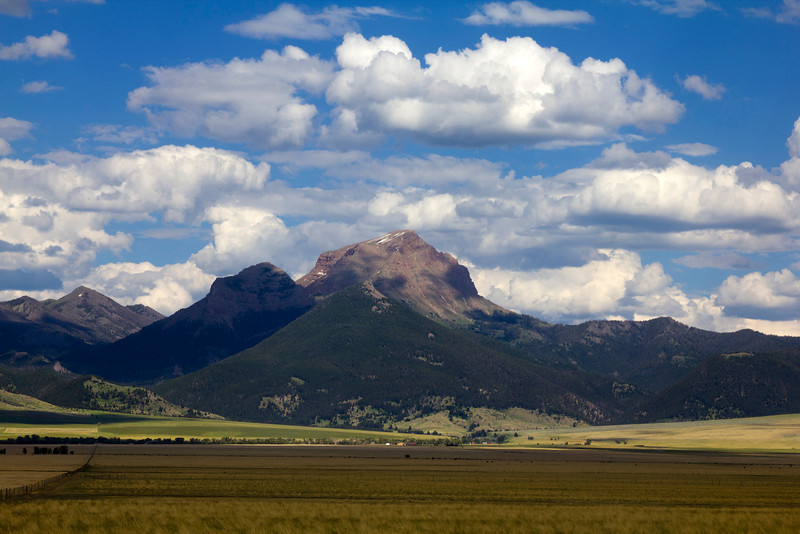 The Sphinx Mountain in the Madison River Valley, part of the Madison Range in Montana. July 6th, 2012