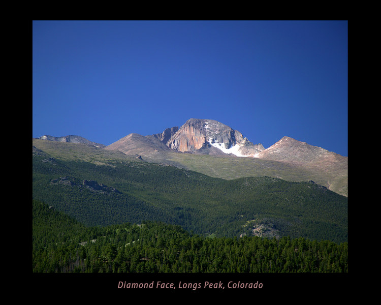 Longs Peak showing Diamond Face, Rocky Mountain National Park