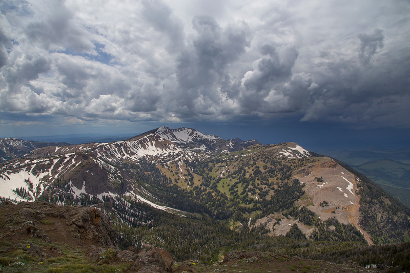 Mt Jefferson,  Idaho  storm coming