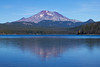 South Sister and Elk Lake on the Cascade divide in Oregon. Oct 19, 2010.