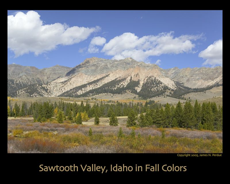 Sawtooth Valley near Sun Valley in Idaho, September 2005