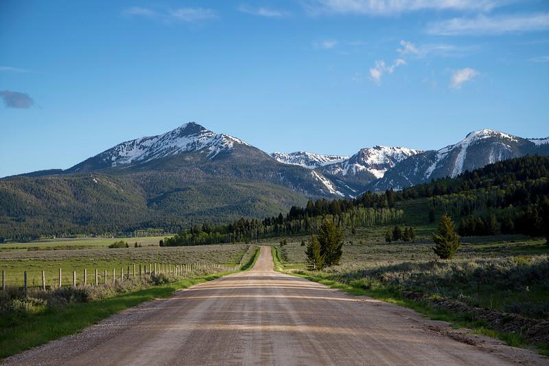 Sawtelle Peak from Henry's Lake Road (Idaho)