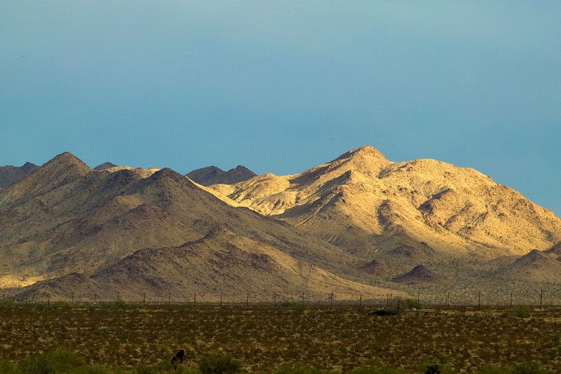 Foothills of the mountains on the edge of Joshua Tree National Park, highly eroded, east of Indio, CA. Dec 2008