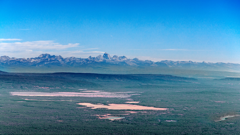 Western side of Tetons and Island Park from Sawtelle Peak