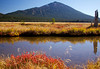 Mount Bachelor and Goose Creek in Fall, Oct 19, 2010. Oregon