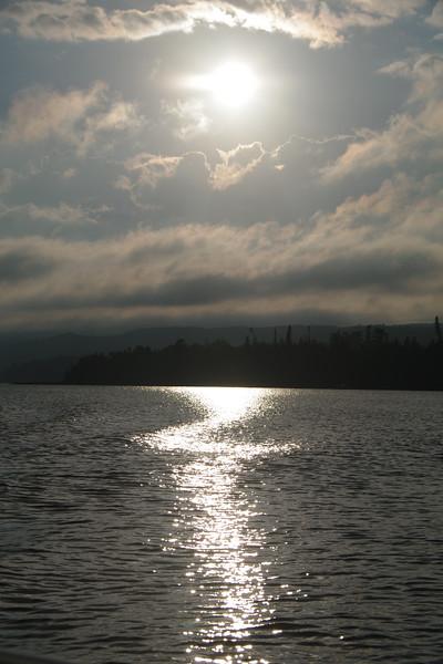 Near Sunset Over Lake Lac La Belle, Michigan