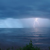 Lightning strikes over lake superior from Michigan coastline - II