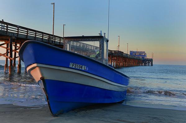 Newport Beach Sunrise Moonset