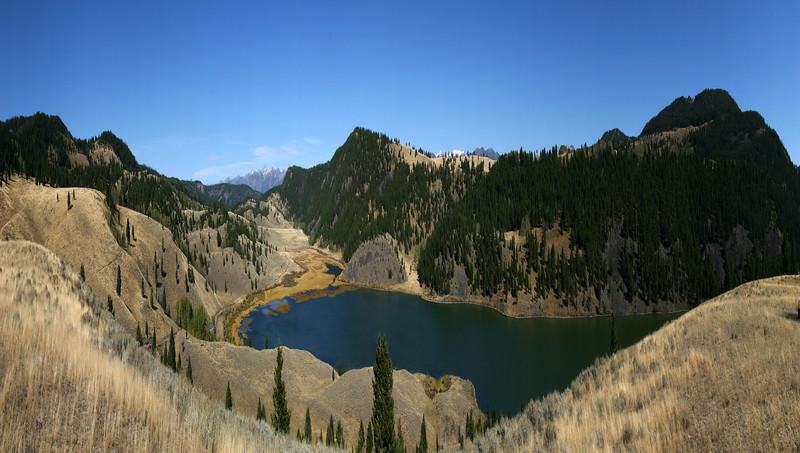 Elk Lake in Montana (compressed panorama)