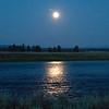 Moon over Henry's Fork of the Snake River