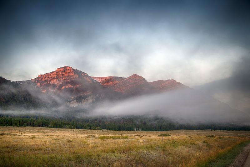 Sunrise on Centennial Mountains, MT