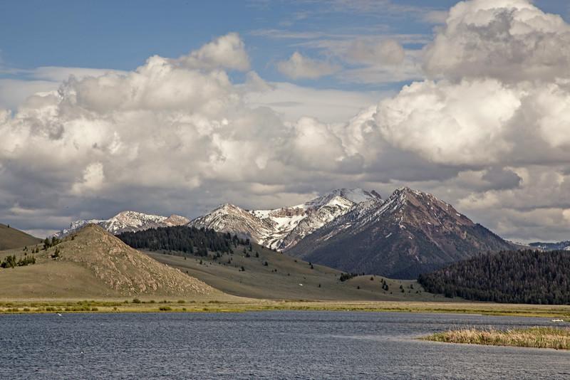 Nemesis Mountain and Mt. Jefferson from Widgeon Pond, RRLNWR