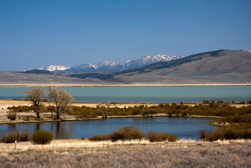 Shambo Pond and Upper Red Rock Lake with Madison Range in the background on May 14, 2012.