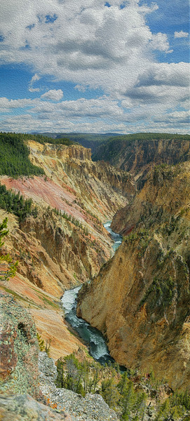 Yellowstone Canyon Vertical Pan 6852