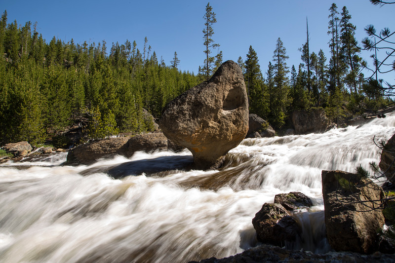 Balanciing Rock in Gibbon River