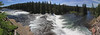 Panorama of Cave Falls on the Cave River in the southwestern corner of Idaho. This is only reachable by car from Idaho. July 22, 2009