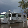 "At Thousand Trails RV Resort, Wilderness Lake in Menifee, CA. Dec 22 after 7 days of rain the canal behind us flooded due to the 6"" of rain. The agricultural fields across the street flooded first and then overflowed into the park. We left 6 days early due to this mess!!"