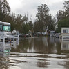 Wilderness Lakes (Thousand Trails) RV Resort in Menifee, California on Dec 22, 2010 after 7 days of rain. This was the street in front of our RV.
