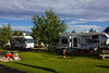 One of the large lawns at RedRock RV Park. 2012