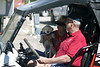 """Hank the new """"Lab"""" for Maggie and Glenn in the Fourth of July Parade at RedRock RV Park. July 2, 2012."""