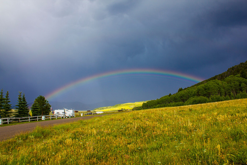 Rainbow across from RedRock RV Park. Summer 2012