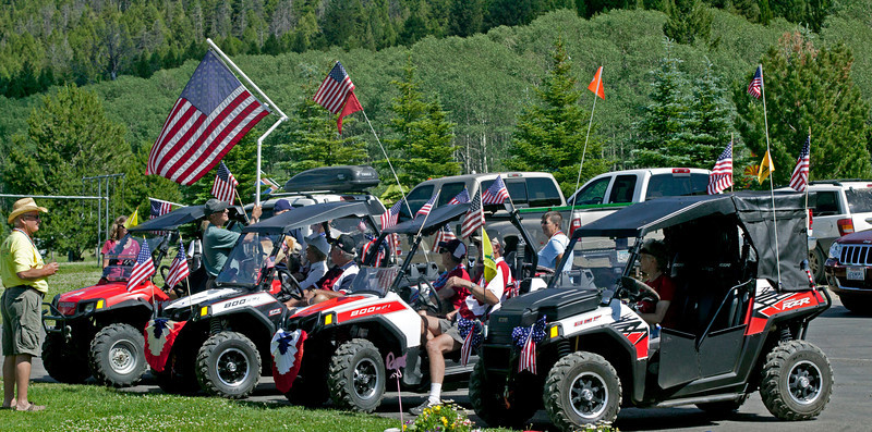 ATV's lineup for RedRock RV's annual Fourth of July Parade. July 2, 2012
