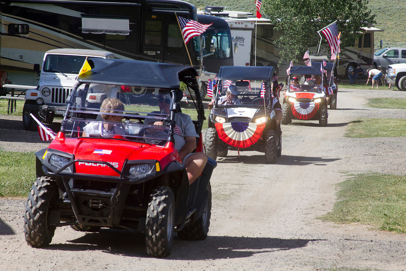 Fourth of July Parade celebrated on 2nd of July to allow the RedRock RV Park customers to plan their own activities on our nation's Independence Day. 2012