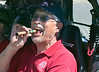 Glenn is enjoying a stogie before the RedRock RV Park July Fourth Parade. 2012