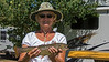 Susie Walker caught a fish in Henry's Lake. 2012