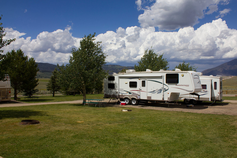 Large site with 5th wheel at RedRock RV Park. July 27, 2012.