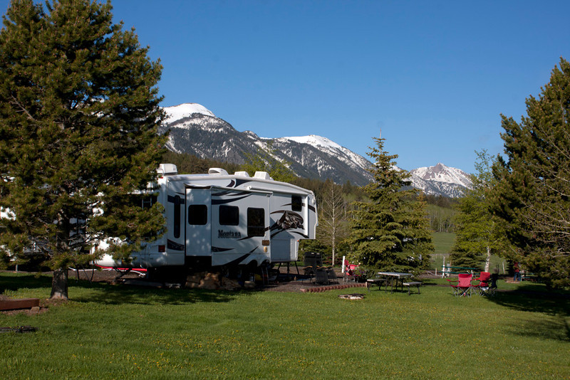 RedRock RV Park large site with East Centennial Mountains.