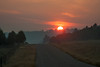 Sunrise in front of RedRock RV Park on Sep 20, 2012.