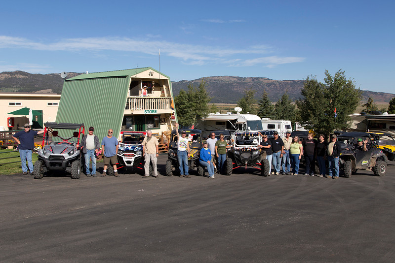 Group of campers on their way to an ATV adventures from RedRock RV Park, Sep 6, 2013.