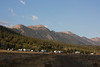 RedRock RV Park in Fall with Red Rock Mountain behind. Sep 2012