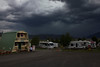 Storm forming over RedRock RV Park, Island Park, Idaho. July 27, 2012.