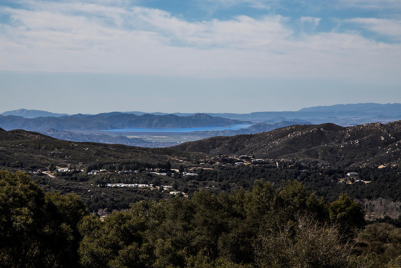 Diamond Valley Lake Reservoir (in Hemet) from the road above section F in Silent Valley Club. Feb 15, 2013.