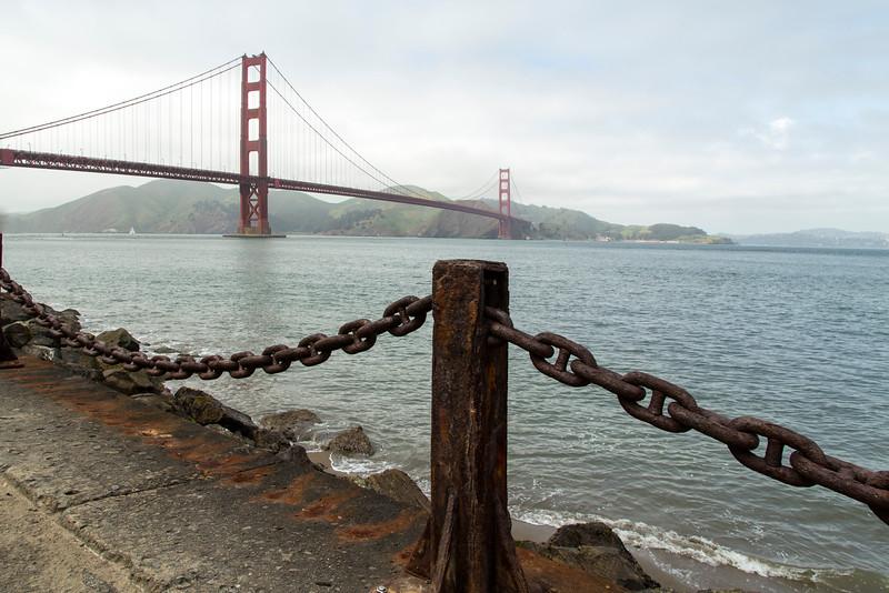 Golden Gate Bridge from Crissy Field Marina