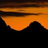 Western Side of Teton Range silhouetted at Sunrise
