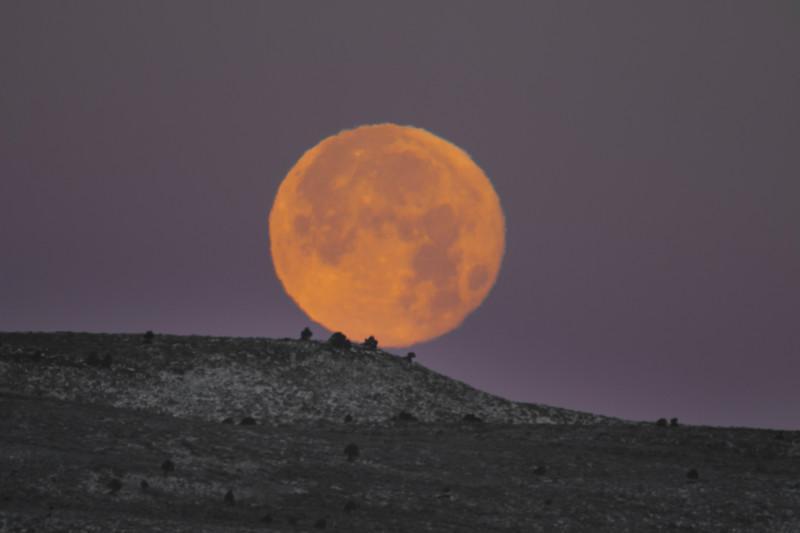 Super Moon over Saint Anthony Sand Dunes