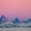 Purple Tetons at Sunset in January