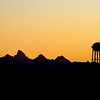 Teton and Parker Water Tower Silhouette