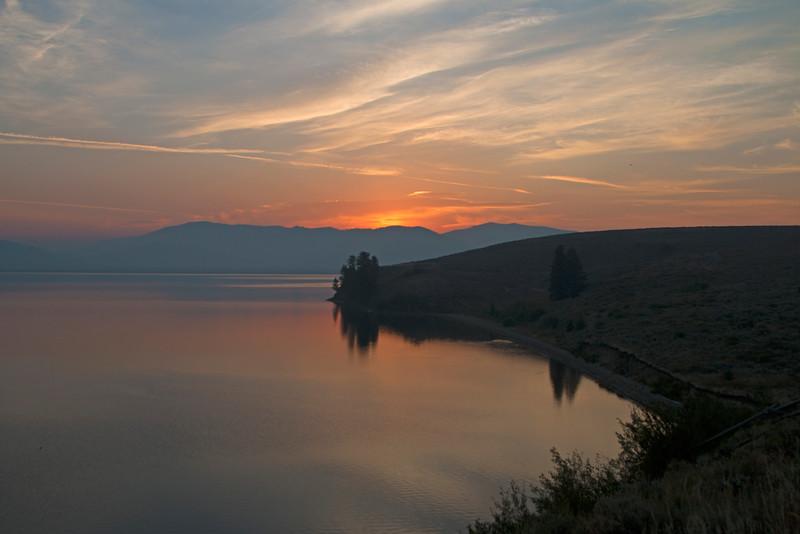 Henry's Lake cove at sunrise, Idaho
