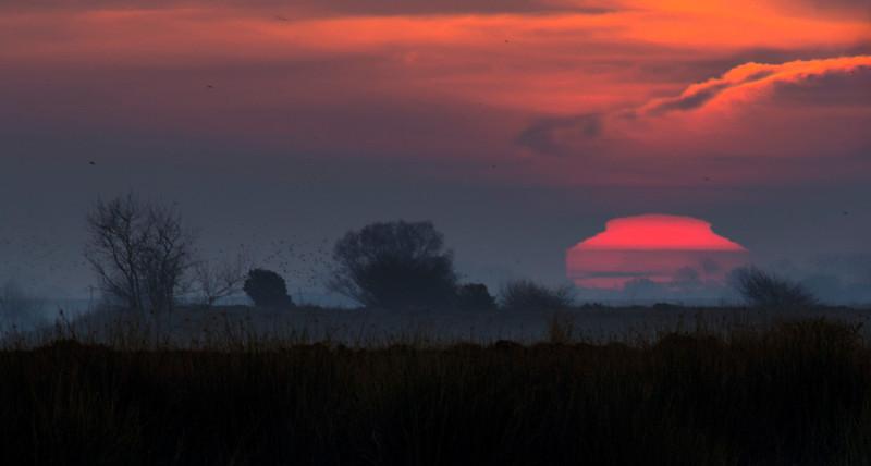 Sunrise aberations