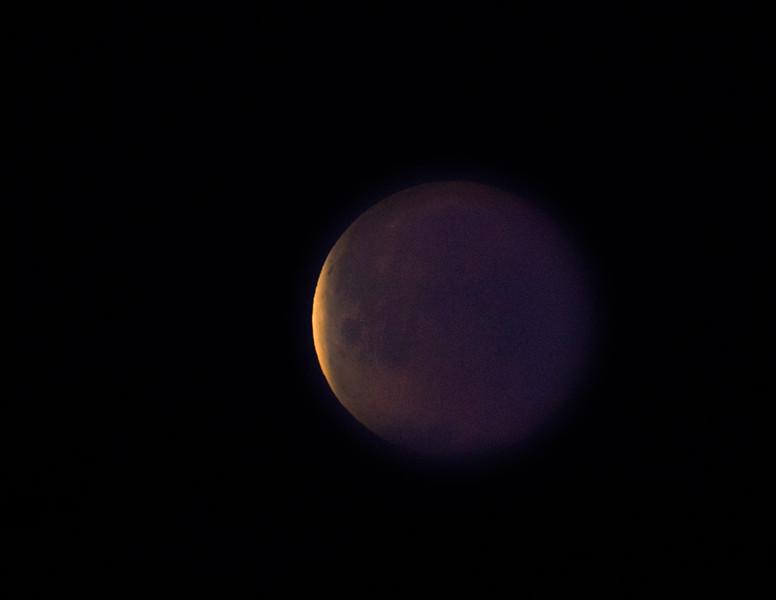 Lunar Eclipse begins to fade