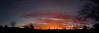 "Sunset in Silent Valley RV Park, looking West. January 2009 (36 x 12"" Panorama)"